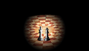 King & Queen on chessboard